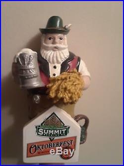 RARE SUMMIT OKTOBERFEST MARZEN STYLE GERMAN MAN 9-3/4 Beer Tap Handle