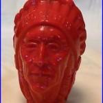 RARE Vintage Early Iroquois Indian Head Beer Tap Keg Handle Knob Buffalo NY NR