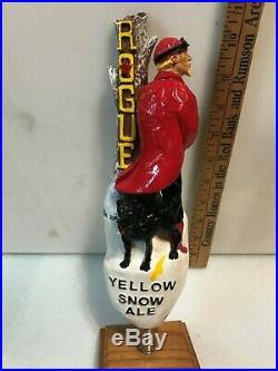ROGUE YELLOW SNOW beer tap handle. Portland, Oregon
