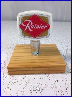 Rainier Beer Tap Handle Vintage Rare Knob