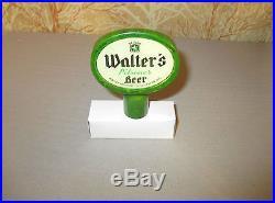 Rare 1930's Walter's Beer Green Marble Bakelite Beer Tap Handle Eau Claire WI