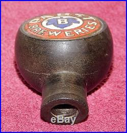 Rare 1940s PABST BEER Bakelite BALL STYLE Black TAP HANDLE Milwaukee Wisconsin