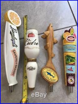 Rare Beer Tap Handle Lot Kona Hanalei Dogfish Head Stella Cidre Leinenkugels Wow