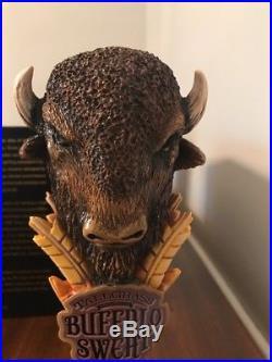Rare Buffalo Sweat Tallgrass Brewing Co. Bar Tap Handle Beer Keg Marker. Rare