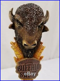 Rare Buffalo Sweat Tallgrass Tall Grass Brewing Co Beer Tap Draft Handle T10