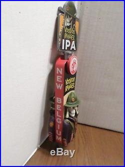 Rare Full Figural VooDoo Ranger IPA New Belgium Skull 12 Beer Keg Tap Handle