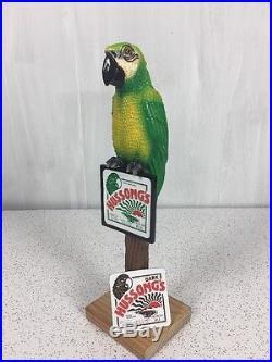 Rare Hussong's Ale Vintage Beer Tap Handle Knob Breweriana Parakeet Parrot Bird