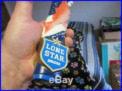 Rare Lone Star Beer Tap Handle Boat Fish Lure Bar Man Cave Nib San Antonio Texas