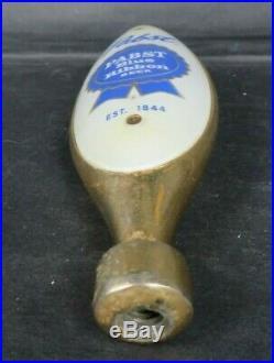 Rare PABST BLUE RIBBON BEER mid century bullet tap handle knob bar saloon MCM