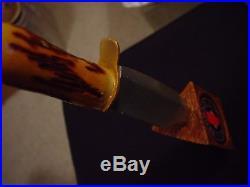 Rare Redback Original Australian Ale BOWIE KNIFE IN WOOD Beer Tap Handle