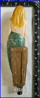 Rare Scuttlebutt Gale Force IPA Beer Figural Mermaid Beer Tap Handle