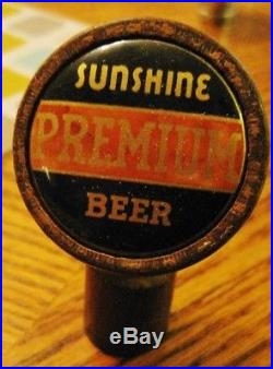 Rare Sunshine Bremium Beer Wooden Handle Ball Tap Knob Barbey Reading Pa