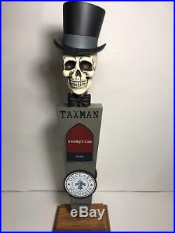 Rare TAXMAN beer tap handle
