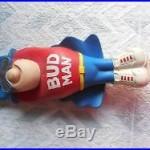 Rare Vintage Budweiser BUD MAN Bar Beer Tap Handle Figure