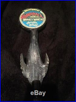 Rare Vintage Figural Humpback Premium Honey Wheat Beer Tap Handle Tapper Knob