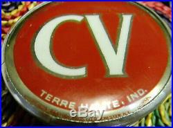 Rare Vintage Terre Haute Indiana Champagne Velvet CV beer tap handle knob