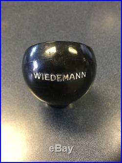 Rare Wiedemann Wiedemann's Beer Tap Handle Knob Newport Kentucky
