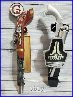 Revolver and Goliad Gun Beer Tap Handles