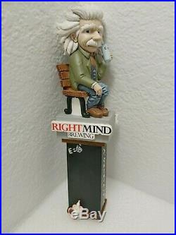 Right Mind Brewing Alber Einstein Chalkboard Very Rare 11 Beer Keg Tap Handle
