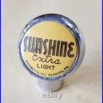 SUNSHINE EXTRA LIGHT BEER TAP KNOB Barbey's Inc Reading, PA RARE HANDLE