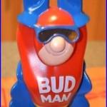 SUPER RARE NEW IN BOX VINTAGE BUD MAN figural BEER TAP HANDLE KEG TOPPER