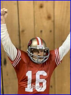 San Francisco 49ers Tap Handle JOE MONTANA Beer Keg Kegerator NFL FOOTBALL