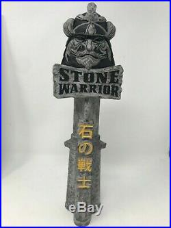Sapporo Brewing Stone Warrior Samurai 11.5 Beer Tap Handle. RARE! NEW IN BOX