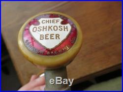 Scarce Chief Oshkosh beer brewery bakelite tap ball tap, tap knob, tap handle