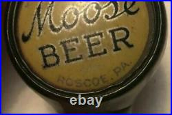 Scarce Moose Beer Ball Tap Knob Handle Moose Brewing Co. Roscoe, PA