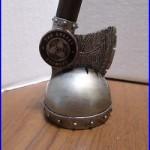 Skull Splitter Battle Axe Helmet Orkney Brewery 12 Beer Keg Tap Handle