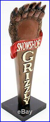 Snowshoe Grizzly Paw Large 3D Figural Beer Tap Handle