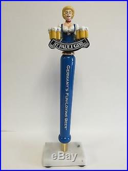 St. Pauli Girl Germanys Fun Loving Beer Tap Handle 13 Tall VGC (mint) & F/S