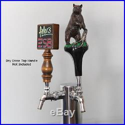 Standing Bear Draft Beer Tap Handle Kegerator Custom Faucet Knob Home Bar