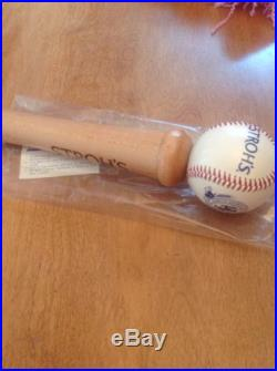 Stroh's Baseball Beer Tap Handle BNIB Draft Keg Knob Ball Bat Man Cave MLB Wood