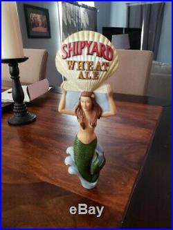Super Rare Shipyard Wheat Ale MERMAID Beer Tap Handle
