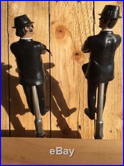 THE BLUES BROTHERS Beer Keg TAP HANDLES Jake And Elwood Movie 2 Handle Pair