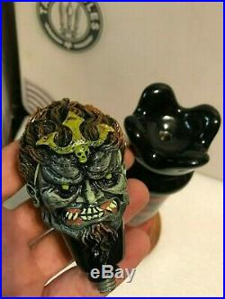 THREE 3 FLOYDS ZOMBIE DUST beer tap handle. 2 piece. INDIANA