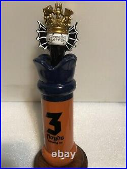 THREE FLOYDS ZIMMER draft beer keg tap handle. INDIANA. Rare