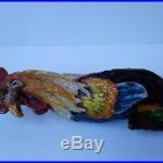 Tallgrass Brewing Co. VELVET ROOSTER Beer Tap Handle BEAUTIFULLY Hand-Painted
