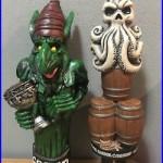 Tap Handle Lot GREEN GOBLIN WYCHWOOD / Harbor Barrel Beer Tap Handle Rare Htf