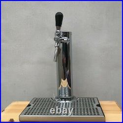 Tap Tower Double Steel handles flow adjusters drip tray AEB corny keg connectors