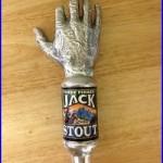 Three Finger Jack Stout Beer Tap Handle Vintage Rare Knob