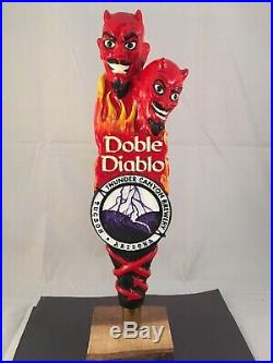 Thunder Canyon Brewery Doble Diablo Beer Tap Handle Rare Figural Devil Beer Tap