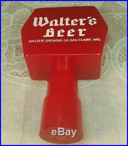 Tough Vintage Walter s Beer Tap Handle Knob Eau Claire WI Wis Wisconsin