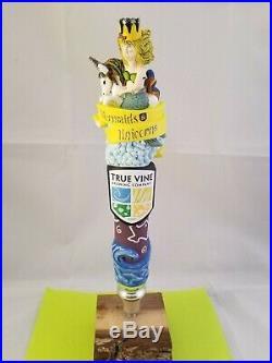 True Vine Mermaids And Unicorns Beer Tap Handle Rare Figural Girl Tap Handle