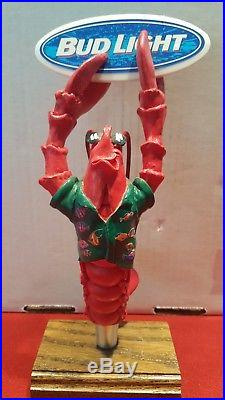 Ultra Rare Bud Light Figural Lobster & Surfboard Beer Tap Handle