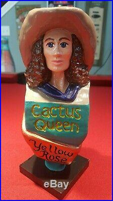 Ultra Rare Yellow Rose Brewing Company Cactus Queen Beer Tap Handle