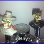 Union and Confederate Soldier Skull beer tap handle lot for kegerators! New Set