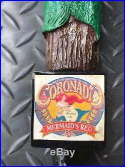 Unique Rare Coronado Brewing Company Mermaids Red Beer 12 Tap Handle