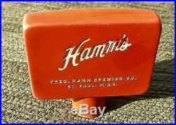 VERY OLD HAMM'S BAKELITE CELLULOID & ENAMEL BEER TAP HANDLE, ST. PAUL MINNESOTA